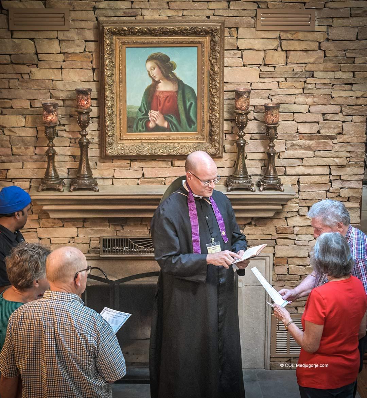 Caritas Pilgrims at the home on June 23, 2021